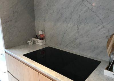 Cuisine et plan de travail en marbre