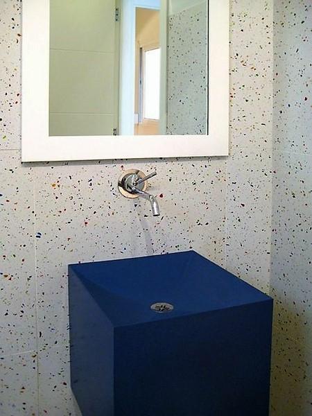 Évier de salle de bains en marbre